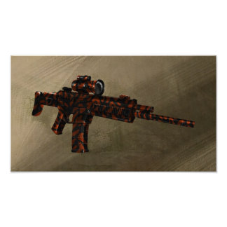Azmodeus Red Camo ACR Rifle, Poster