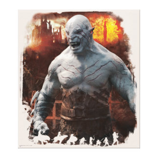 Azog & Orcs Silhouette Graphic Canvas Print