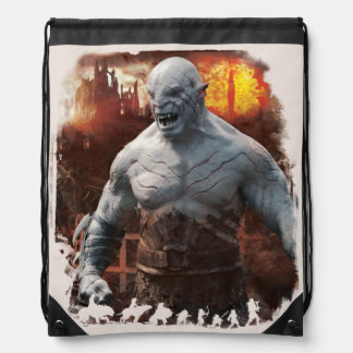 Azog & Orcs Silhouette Graphic Drawstring Backpacks