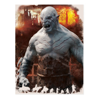 Azog & Orcs Silhouette Graphic Postcard