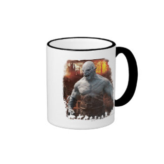 Azog & Orcs Silhouette Graphic Ringer Coffee Mug