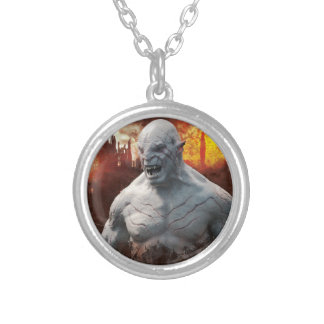 Azog & Orcs Silhouette Graphic Round Pendant Necklace