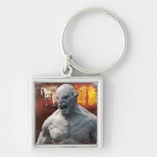 Azog & Orcs Silhouette Graphic Silver-Colored Square Keychain