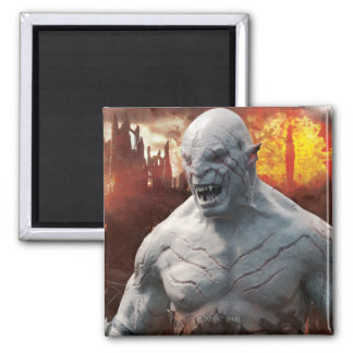 Azog & Orcs Silhouette Graphic Square Magnet