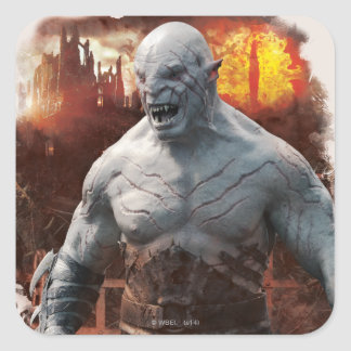 Azog & Orcs Silhouette Graphic Square Sticker
