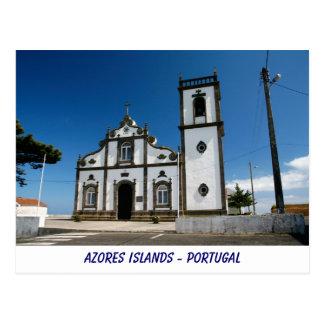Azorean church postcard