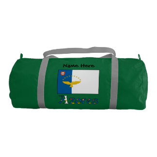 Azorean Flag and Azores with Name Gym Bag
