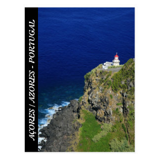 Azorean Lighthouse Postcard
