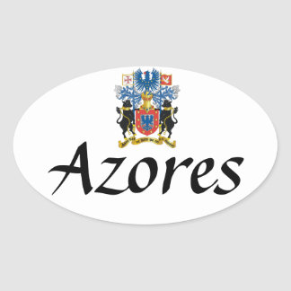 Azores Crest Oval Sticker