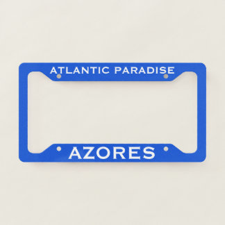Azores Custom License Plate Frame