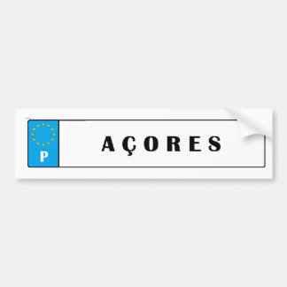 Azores* Islands Car License Sticker