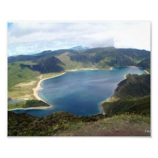 Azores Islands Nature Print Photo Art