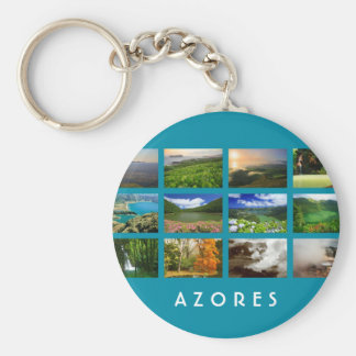 Azores Landscapes Basic Round Button Keychain