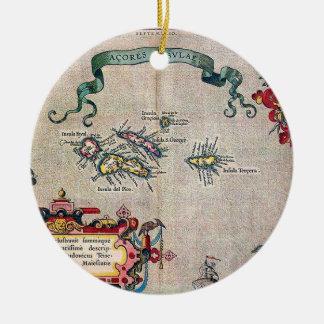 Azores Old Map - Vintage Sailing Exploration Ceramic Ornament