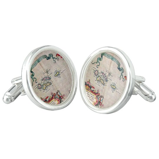 Azores Old Map - Vintage Sailing Exploration Cuff Links