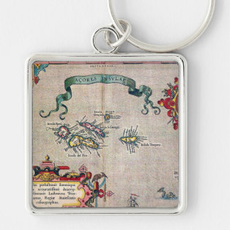Azores Old Map - Vintage Sailing Exploration Keychain