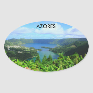 Azores Oval Sticker