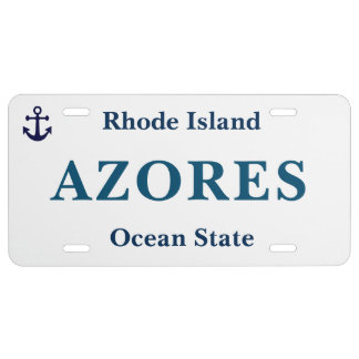 Azores Rhode Island Plate License Plate