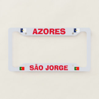 Azores São Jorge License Plate Frame