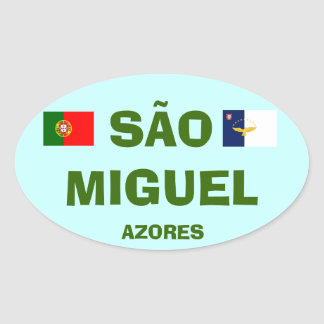 Azores - Sao Miguel Azores Oval Sticker