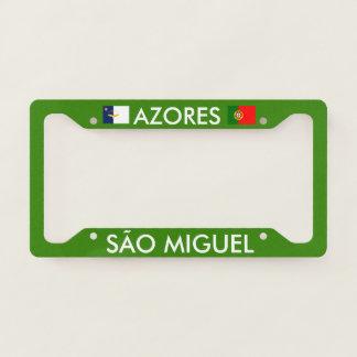 Azores SÃO MIGUEL License Plate Frame