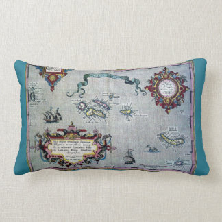 Azores Soft Historic Map Pillow