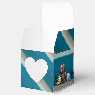AZOTO DIVER CARTOON Heart 2x2 FAVOR BOX
