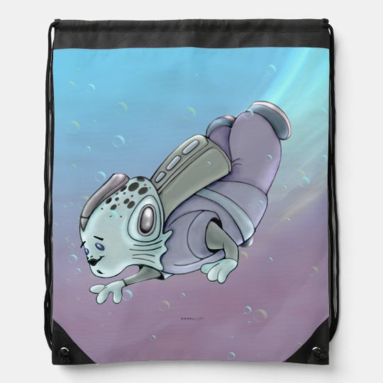 AZTAX ALIEN CARTOON Drawstring Backpack
