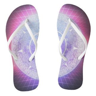 Aztec Aesthetics Flip Flops