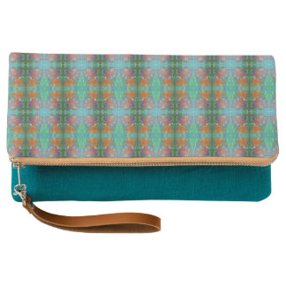 Aztec Afternoon Teal Clutch