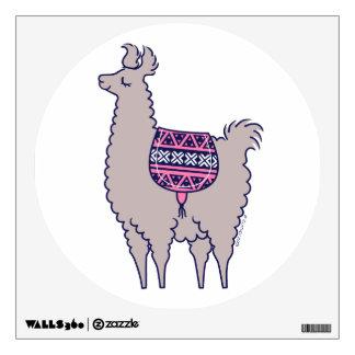 Aztec Alpaca Wall Decal