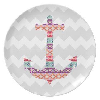 Aztec Anchor Chevron Plate