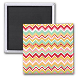 Aztec Andes Tribal Mountains Chevron Fiesta Zigag Square Magnet