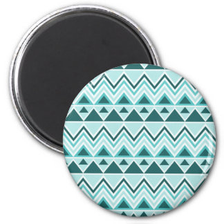 Aztec Andes Tribal Mountains Triangles Chevrons 2 Inch Round Magnet