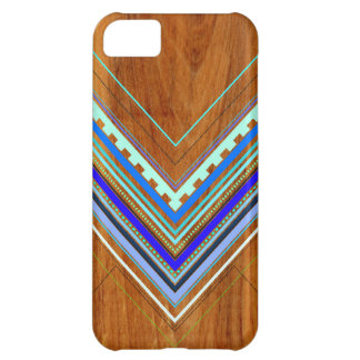 Aztec Arbutus Blue iPhone 5C Case