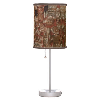 Aztec Art Relief Table Lamp