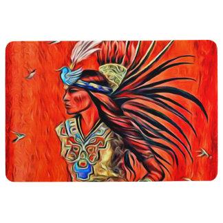 Aztec Bird Dancer Native American Floor Mat