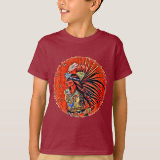 Aztec Bird Dancer Native American Kids T-shirt