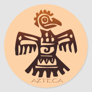 AZTEC ~ Bird Spirit Classic Round Sticker