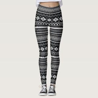 Aztec Black and White Leggings