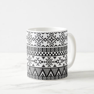 Aztec Black and White Tribal Pattern Mug
