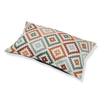 Aztec Block Symbol Big Ptn Teals Crm Terracottas Pet Bed