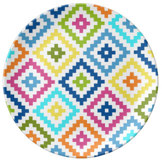 Aztec Block Symbol Ptn Multicolored Plate