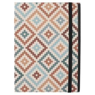 """Aztec Block Symbol Ptn Teals Crm Terracottas iPad Pro 12.9"""" Case"""