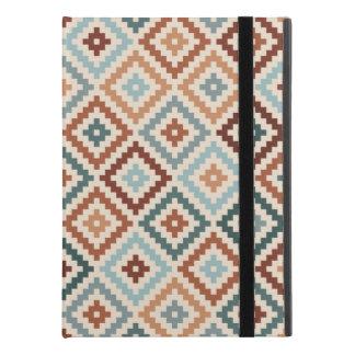 """Aztec Block Symbol Ptn Teals Crm Terracottas iPad Pro 9.7"""" Case"""