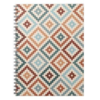 Aztec Block Symbol Ptn Teals Crm Terracottas Notebook