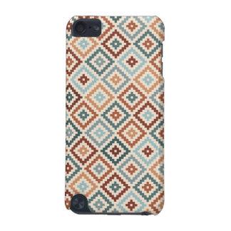 Aztec Block Symbol Rpt Ptn Teals Crm Terracottas iPod Touch (5th Generation) Covers