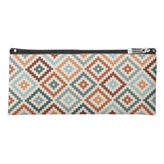 Aztec Block Symbol Rpt Ptn Teals Crm Terracottas Pencil Case