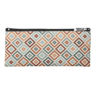 Aztec Block Symbol Sml Ptn Teals Crm Terracottas Pencil Case