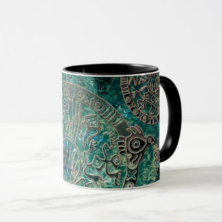 Aztec blues Black 11 oz Combo Mug